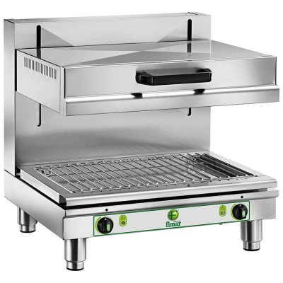 Stainless steel salamander for bars and professional kitchens. Model SAL600MB - Fimar