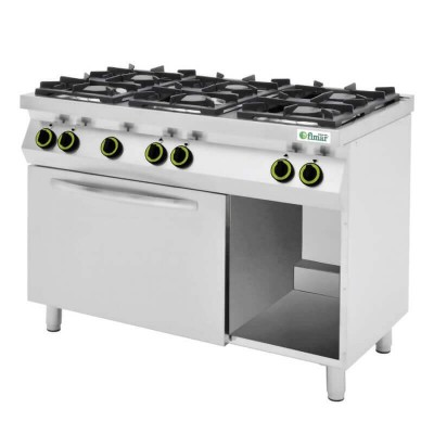 Kitchen 6 gas burners, electric oven and open compartment. Model: CC76GFEV - Fimar