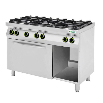 Kitchen 6 burners and gas oven and open compartment. Model: CC76GFG - Fimar