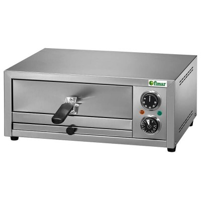 Electric pizza oven in stainless steel. Removable grill and timer. FP - Fimar