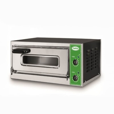 Professional pizza oven with glass and stainless steel frame B1V - B1 1V - Fama industrie