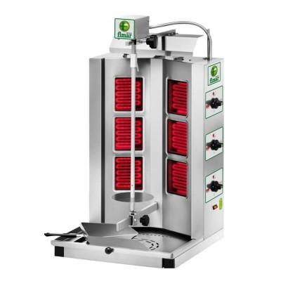 Electric Gyros kebab, 6 infrared resistors, steel structure. Model: GYR60 - Fimar