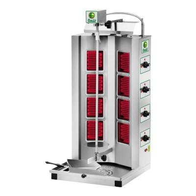 Electric Gyros kebab, 8 infrared resistors, stainless steel frame. Model: GYR80 - Fimar