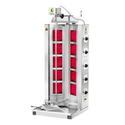 Electric Gyros kebab, 10 infrared resistors, stainless steel frame. Model: GYR100 - Fimar