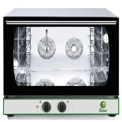 Convection oven with timer, stainless steel structure, humidifier. Model: CMP4GPMI - Fimar