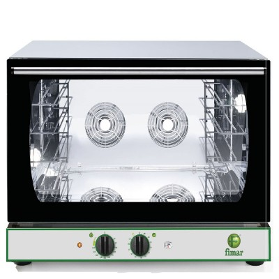 Convection oven with timer, stainless steel structure, humidifier and halogen light. CMP4GPM - Fimar