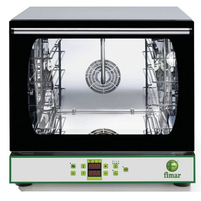Digital convection oven, stainless steel structure, humidifier and internal halogen light .CMP423D - Fimar