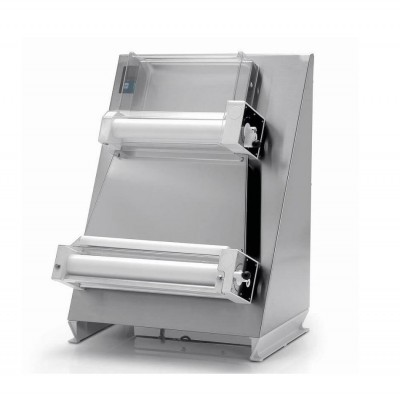 Pizza spreader with parallel rollers and stainless steel structure . L40P -