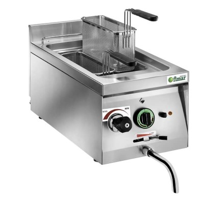 CP11 Electric Countertop Cooker in Stainless Steel with tank capacity 11 lt - Fimar