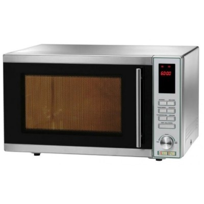 Digital stainless steel microwave with Grill and 30cm turntable. Mod: MF914 - Easy line By Fimar