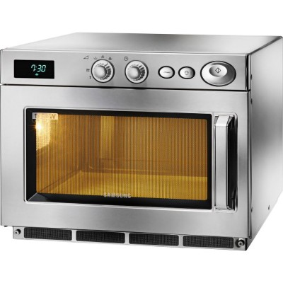Microwave oven with fixed stainless steel frame plate, capacity 26 lt and internal light. Model: CM1519A - Samsung