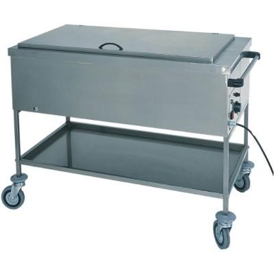 Carrello espositore caldo a bagnomaria per riscaldare tegamini e biberon. Serie: CS - Forcar