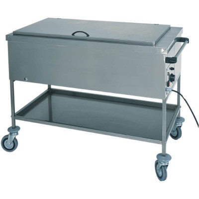 Warm bain-marie display trolley to heat baby bottles and pans. Series: CS - Forcar