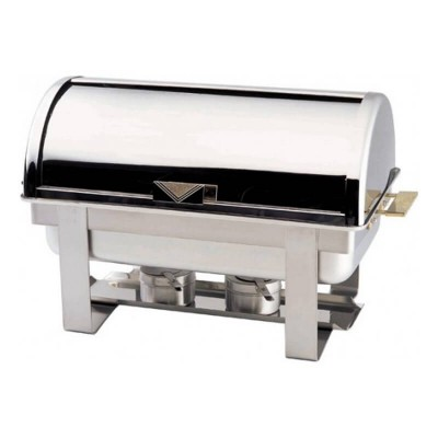 Chafing dish con coperchio rol top, rettangolare. Modello: CD9801 - Forcar