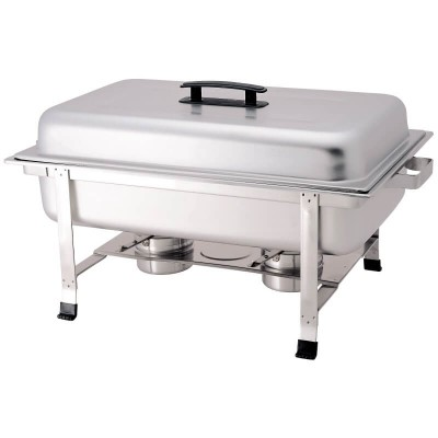 Chafing dish with lid, rectangular stainless steel. Model: CD7905 - Forcar