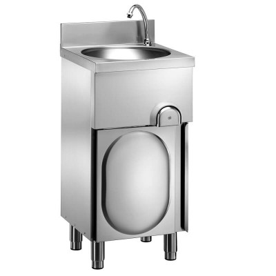 Handwashers on stainless steel furniture and knee control. - Forcar