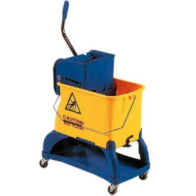 Carrello per pulizie con strizzatore e porta detersivi - Forcar