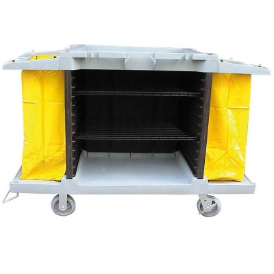 Multipurpose plastic cleaning trolley. - Forcar