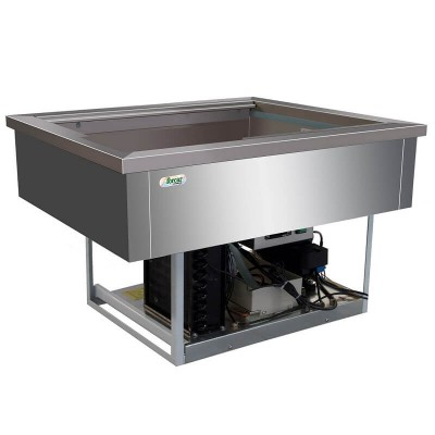 Vasca refrigerata inox da incasso 2 x GN1/1 VRI211 - Forcar Multiservice