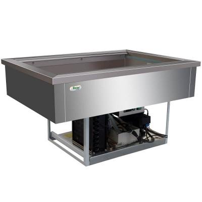 Vasca refrigerata inox da incasso 3xGN 1/1 VRI311 - Forcar Multiservice