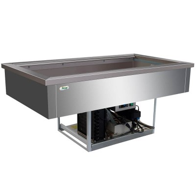 Vasca refrigerata inox da incasso 4 x GN1/1 VRI411 - Forcar Multiservice