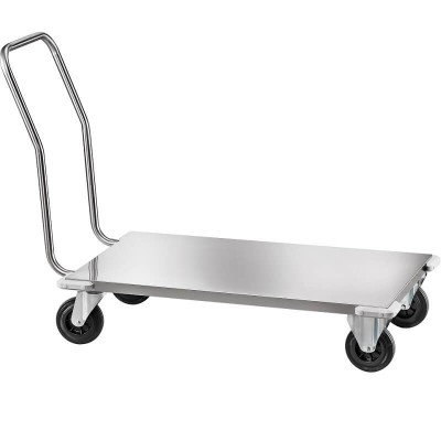 Heavy duty stainless steel transport trolley, removable. - Forcar