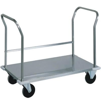 Carrello da trasporto pesante in acciaio inox a doppio manico. - Forcar