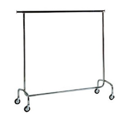 Hanging trolley in chrome-plated steel with extendable rods. - Forcar