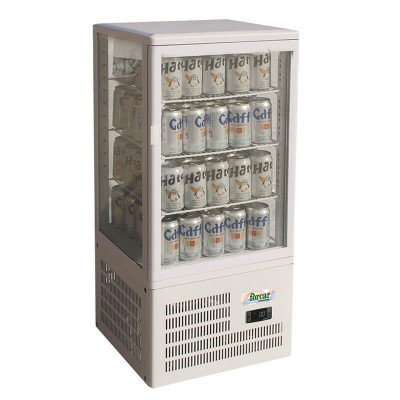 Refrigerated counter display case with 4 glass sides. Model: TCBD68 - Forcar