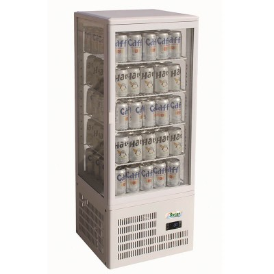 Refrigerated counter display case with 4 sides. Model: TCBD98 - Forcar
