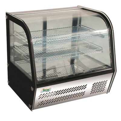 Refrigerated counter display with 4 sides glass and led light. Model: VPR100 - Forcar