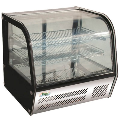 Refrigerated counter display with 4 sides glass and led light. Model: VPR120 - Forcar