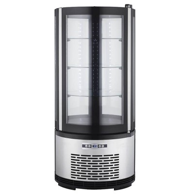 Round ventilated refrigerated display case with led lighting. Model: ARC100B - Forcar