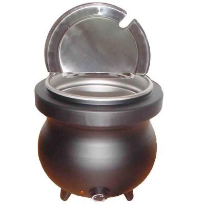 10 litre aluminium electric soup tureen. - Forcar