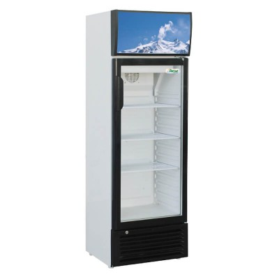 Refrigerator cabinet glass display cabinet and led light. Model: SNACK176SC - Forcar