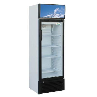 Static refrigerated drinks cabinet with glass door. Model: SNACK251SC - Forcar