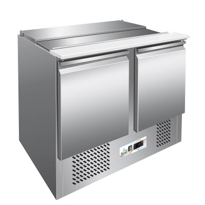 Static refrigerated saladette, stainless steel structure temp. 2° 8°C. S902 - Forcar