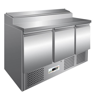 Static stainless steel refrigerated saladette temp. 2° 8°C. GPS300 - Forcar