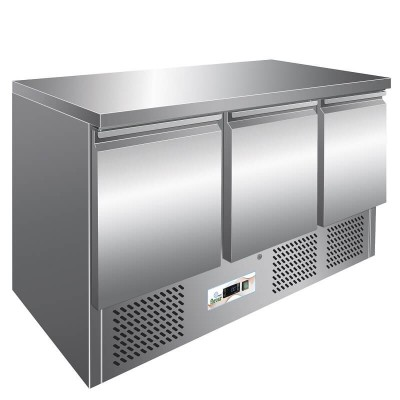 Stainless steel refrigerated saladette , 3 doors S903TOP - Forcar