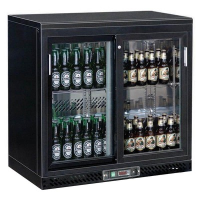 Refrigerated display stand for double drinks. Model: BC2PS - Forcar