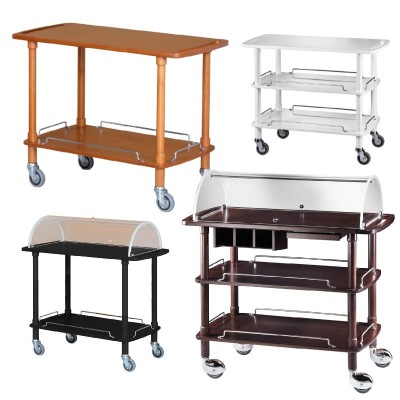 Wooden service trolley 110 x 55 cm. Choice of colour and number of shelves. CLP - CLC - Forcar