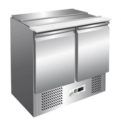 Saladette for stainless steel salads with static refrigeration GS900 - Forcar