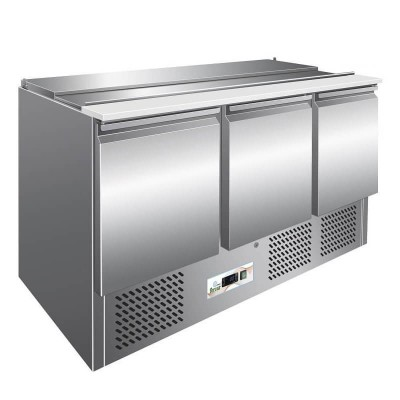 Stainless steel static refrigerated saladette counter. GS903 - Forcar