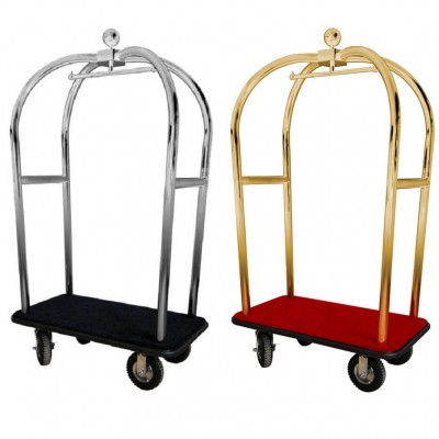 Luggage trolley with carpet top and coat rack - Forcar