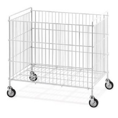 Plastic-coated steel folding trolley for laundry. - Forcar