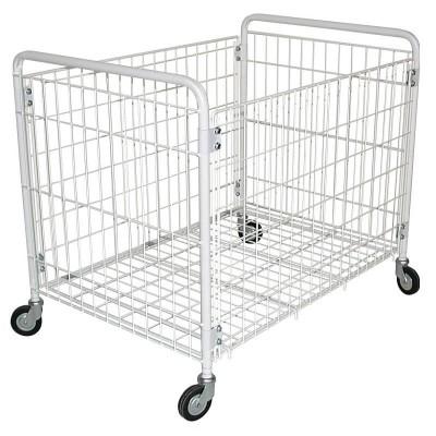 Plastic-coated folding laundry trolley. - Forcar