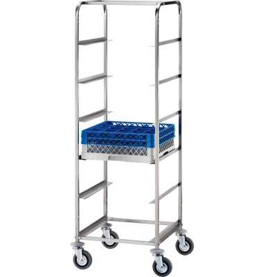 Stainless steel basket trolley for dishwashers - Forcar
