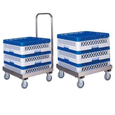 Carrello portacestelli per lavastoviglie in acciaio inox. CP1446 - Forcar Multiservice