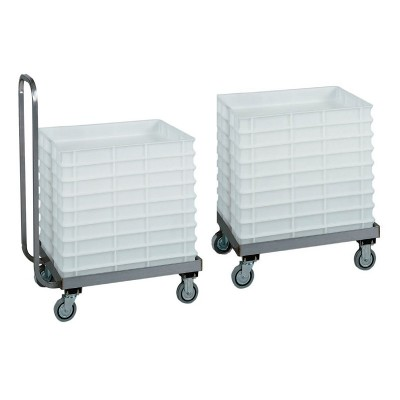 Stainless steel trolley for dough cassettes 60x40 - Forcar