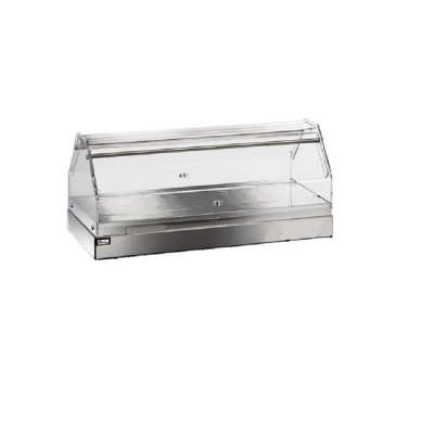 Neutral single storey display case, stainless steel and plexiglass structure - Forcar